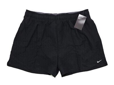 NIKE Herren Bermuda Shorts mit Logo schwarz Badehose Swim Short Größe XXL