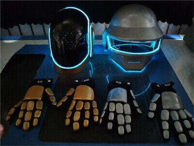 Customized Band Daft Punk Cosplay Mask&Gloves Helmet Halloween Costume