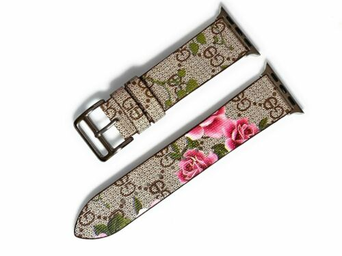 Designer Apple watch band GG floral blooms for series 1 2 3 4 5 38/40mm 42/44mm