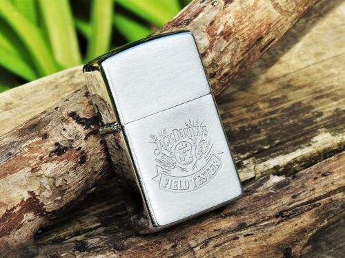 Zippo Lighter - Jack Daniels Embossed Old No. 7 Field Tester - Tennessee Whiskey