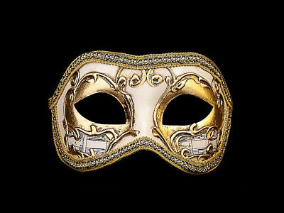 Mask Wolf from Venice Colombine Beethoven Golden for Fancy Dress 804 V12B