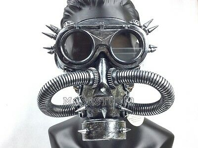 Steampunk Halloween Costume Prom Burning man Respirator Gas Mask Survivair Party