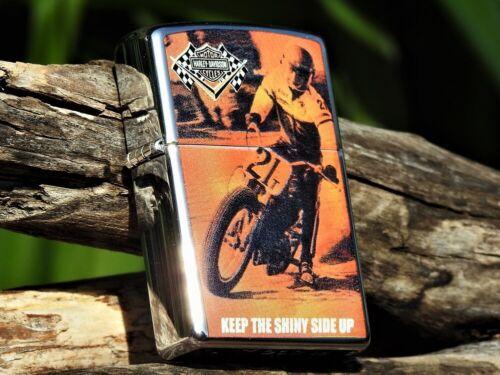 Harley Davidson Zippo Lighter - Hot Lap - Keep the Shiny Side Up XR750 96960-05V