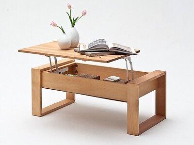Couchtisch 110x60 Eiche massiv Wohnzimmertisch Couch Tisch Massivholztisch VICY ()