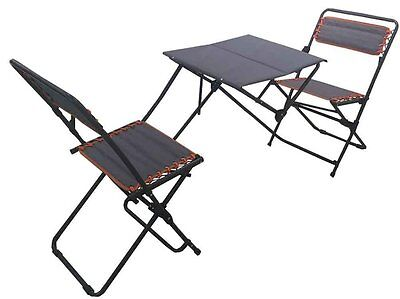 Portable Bistro Set Folding Picnic Table and Chairs Patio Outdoor Dining (Patio Bistro Dining Table)