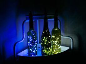 3 LED Bottle Lamps with Animal Character Stopper