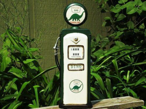 Handmade Tin Sinclair Gasoline Gas Pump Model - Tinplate - Dino - Metal - Retro