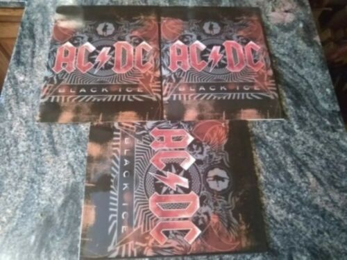 licensed AC/DC lot--(3) BLACK ICE folders angus young brian johnson