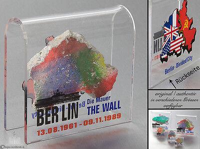 Original Mauerstein Berliner Mauer DIVIDED CITY Souvenir Mauerstück Berlin Wall