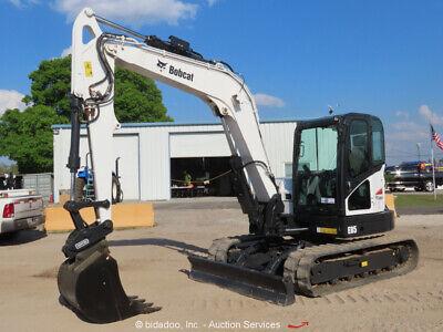 2017 Bobcat E85 Mini Excavator Rubber Tracks Cab Hyd Qc Blade Backhoe Bidadoo