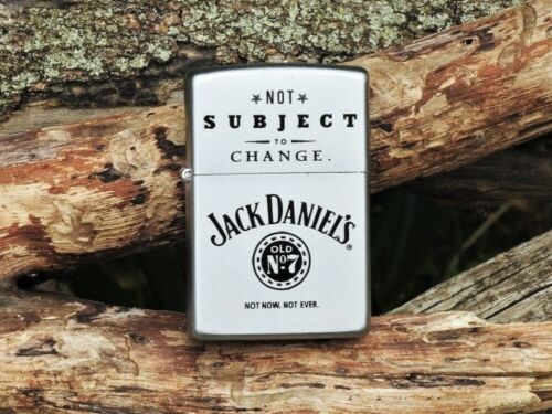 Zippo Lighter - Jack Daniels NOT Subject To Change - Old No. 7 - # 205JD 325