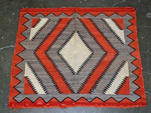 Navajo Red Mesa Outline Single Saddle Blanket - Hand Spun Wool; c. 1920