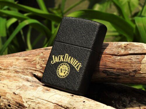 Zippo Lighter - Jack Daniels Swing Logo - Old No. 7 - Black Crackle - 236JD 324