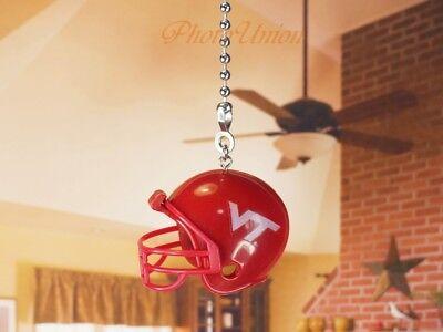 Football Helmet NCAA Virginia Tech Hokies Fan Pull Light Chain Decor K1286 S
