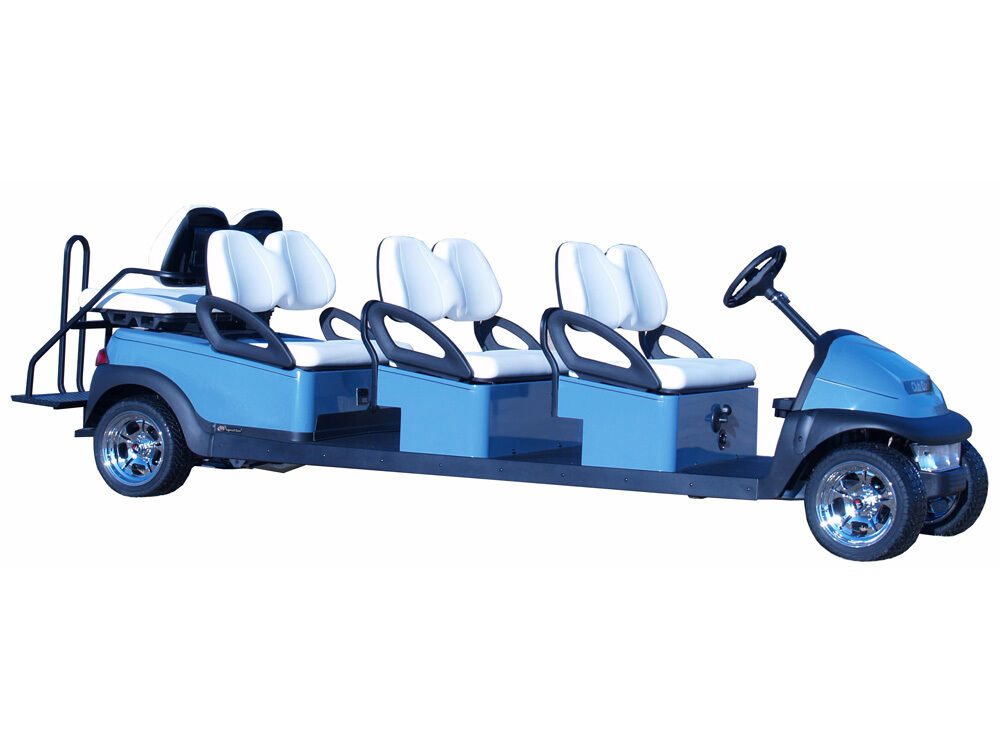Club Car Golf Carts: Club Car Precedent ELECTRIC 8 PASSENGER Golf Cart Stretch