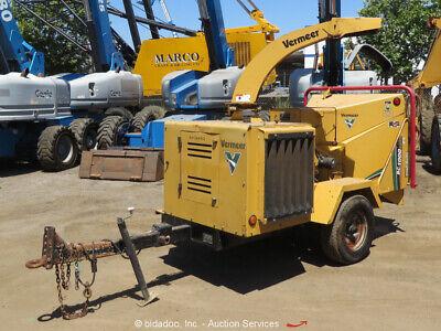 """2010 Vermeer BC1000XL 12"""" Towable Wood Chipper Brush Shredder Diesel bidadoo"""