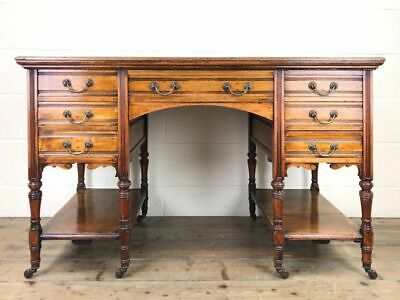 Victorian Mahogany Kneehole Desk Desk (M-2002) - FREE DELIVERY*