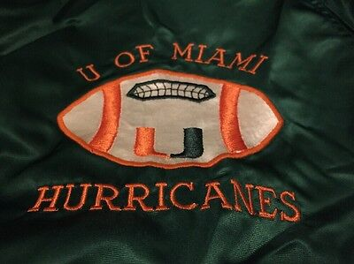 Vintage U Of Miami Hurricanes Orange Bowl Powers Windbreaker Jacket. Size Medium