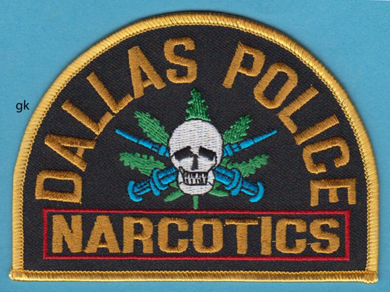 DALLAS POLICE  NARCOTICS  SKULL NEEDLES SHOULDER PATCH