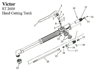 Repair Kit - Victor St2600 2600 Hand Cutting Torch Complete Rebuild