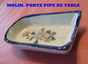 rare porte pipe faience de charolles molin fleurs roses ebay. Black Bedroom Furniture Sets. Home Design Ideas