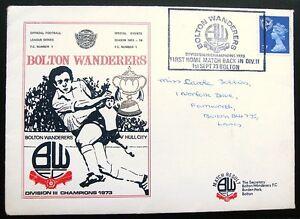 Bolton-Wanderers-1973-Division-3-Champions-Postal-Cover-BWFC-v-Hull-City