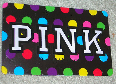 VICTORIA SECRET GIFT CARD NO CASH VALUE PINK POLKA DOTS COLLECTIBLE ONLY