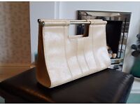 Beautiful Leather Handbag from River Island in Camel/Taupe/Neutral - very good condition.