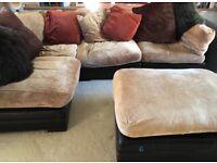 Lovely large modular corner sofa
