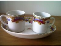 LIMOGES CHINA LOVERS' CUPS