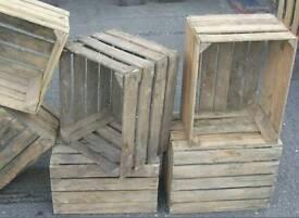 3 x Vintage Wooden Apple Crates
