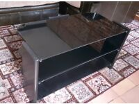 Black Glass TV Stand/Table £10