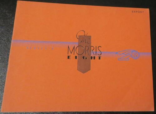 1946 Morris Eight Series E Saloon Car Brochure ,Performance Data,Color Illustrtd