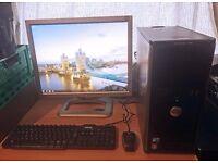 "Dell Optiplex 780 Computer Desktop PC with 21"" LCD Monitor Full Setup"