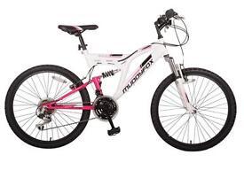 """Muddyfox pink and white 26"""" mountain bike new"""