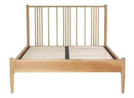 Brand New Bed - Silentnight 5 ft Hamilton Oak Wooden Bed with Varnish, King Size, 150 cm, 4-Piece