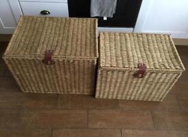 Seagrass storage boxes