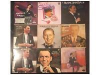 9 x vintage Frank Sinatra vinyl LP's