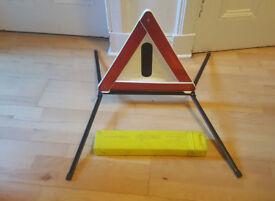 Feuer Hand Warndreieck , Car Triangle Warning Sign Emergency Warning Foldable Tripod