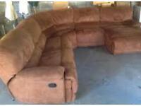 Harvey's Senator Faux Suede reclining Corner Sofa