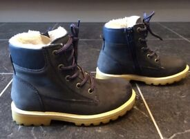 Boys blue winter boots from M&S Kids (Size 13)