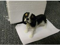 Cavalier King Charles Spaniel Figurine Figure Ornament Small Dog