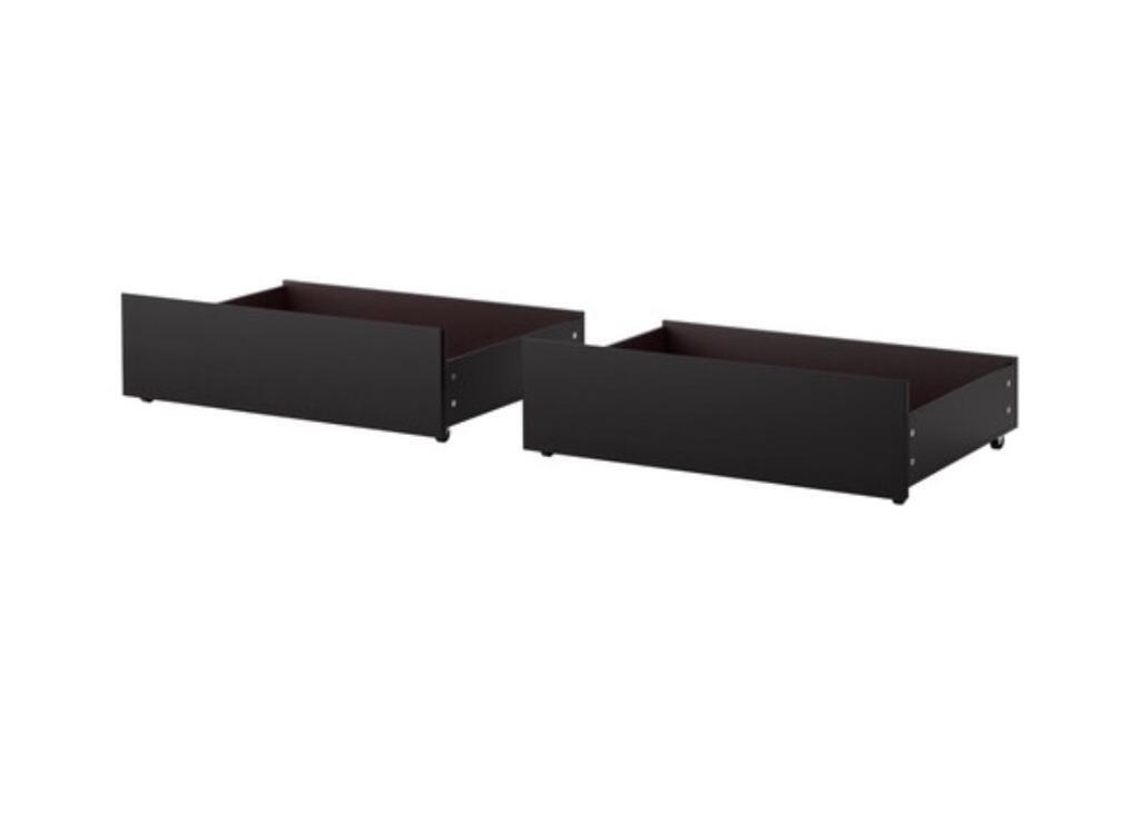 2x IKEA under bed drawers