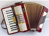 Bell 48 Bass Accordion - 2 Voice - 26 Keys - Pearl Red