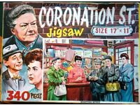 Lot of 1950's Vintage Jigsaw Puzzles Coronation Street. River Avon. London Exhibition