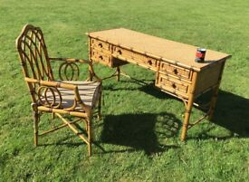 Ash dressing table and chair.