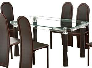 304dd7c3bd0b Gorgeous Bent Glass Dining Table  Alana  - Black Friday Extra 10% Off!