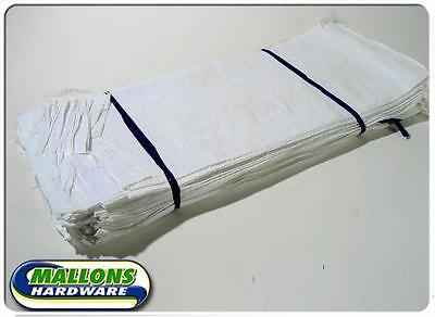 25 x White Woven Polypropylene Sandbags Sacks Flood Defence Sand Bags