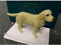 Labrador Yellow Gold Blonde Figurine Statue Small Figure