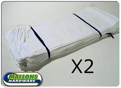 50 White Woven Polypropylene Sandbags Sacks Flood Defence Sand Bags